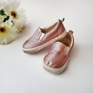 H&M Toddler Slip On Shoes Glitter Pink Size 6
